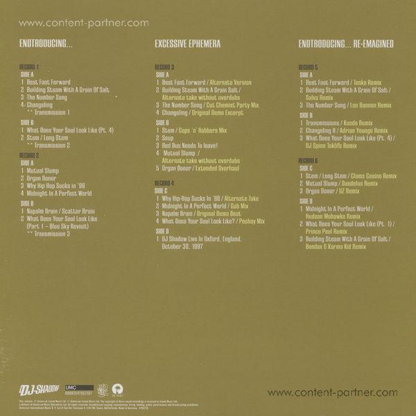 DJ Shadow - Endtroducing (20th Ann. 6LP Edition) (Back)