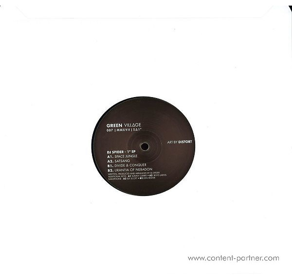 DJ Spider - 1 Degree Ep (Back)