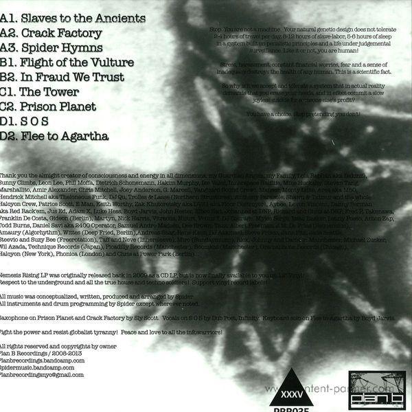 DJ Spider - Nemesis Rising (Back)