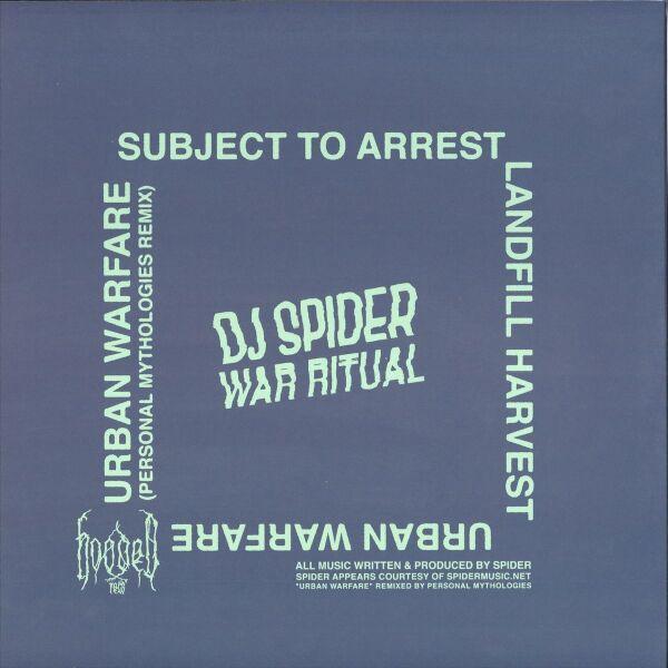 DJ Spider - War Ritual (Back)