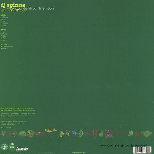 DJ Spinna - Compositions 4 (LP + 7 Inch) (Back)