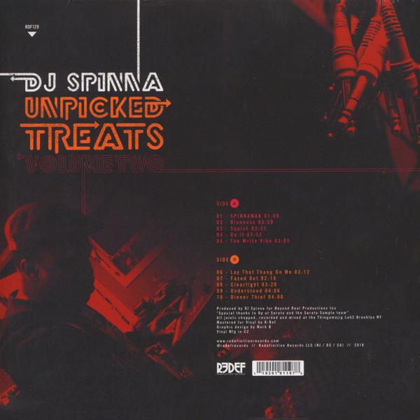 DJ Spinna - Unpicked Treats Vol. 2 (LP) (Back)