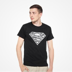 DMC T-SHIRT - DC Comics - Superman Logo (black) M