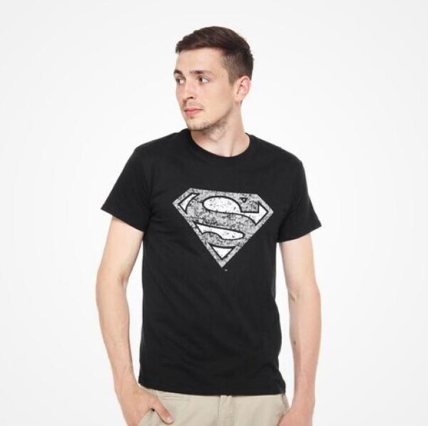 DMC T-SHIRT - DC Comics - Superman Logo (black) M