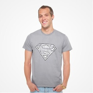 DMC T-SHIRT - DC Comics - Superman Logo (grey) L