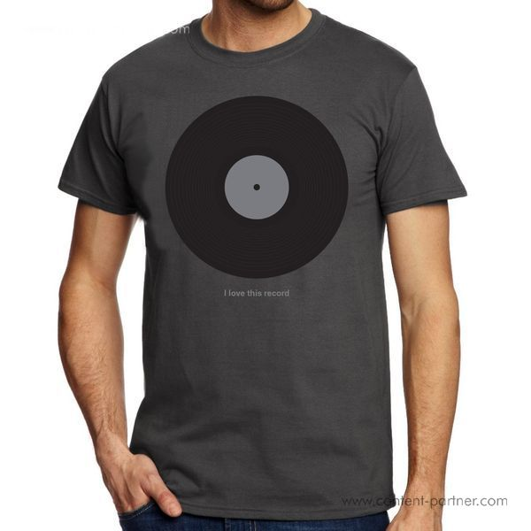 DMC T-Shirt - I Love This Record - Size L