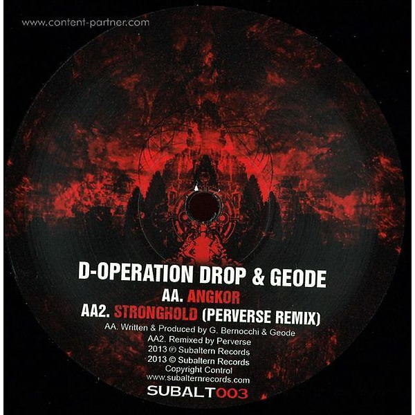 D-Operation Drop & Geode - Stronghold Ep (Back)
