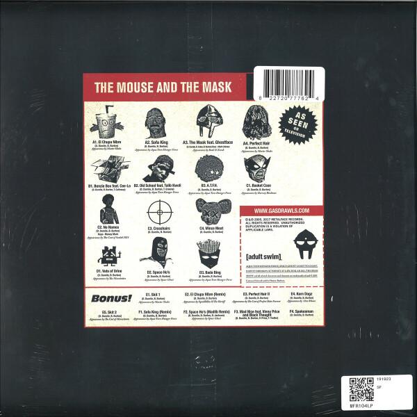 Dangerdoom - The Mouse & The Mask (Official Metalface Version) (Back)