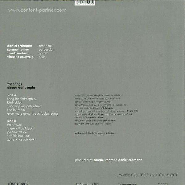 Daniel Erdmann - Samuel Rohrer - Ten Songs About Real Utopia (Back)