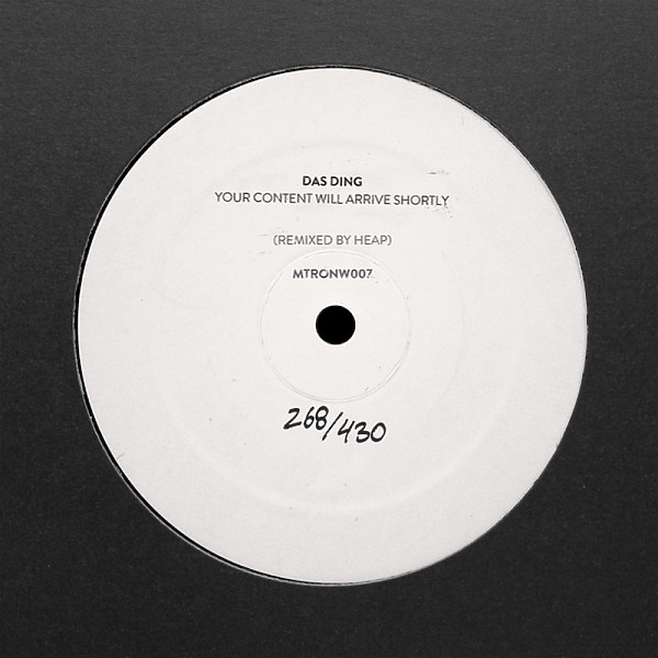 Das Ding - our Content Will Arrive Shortly (Heap Remix)
