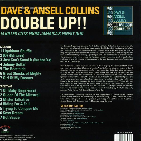 Dave & Ansell Collins - Double Up (Back)