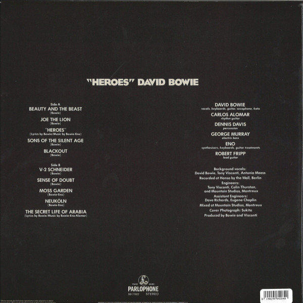 David Bowie - Heroes (180g Remastered Reissue) (Back)