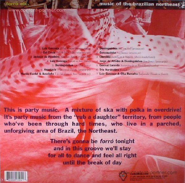 David Byrne / Various - Brazil Classics 3: Forro (LP+MP3) (Back)