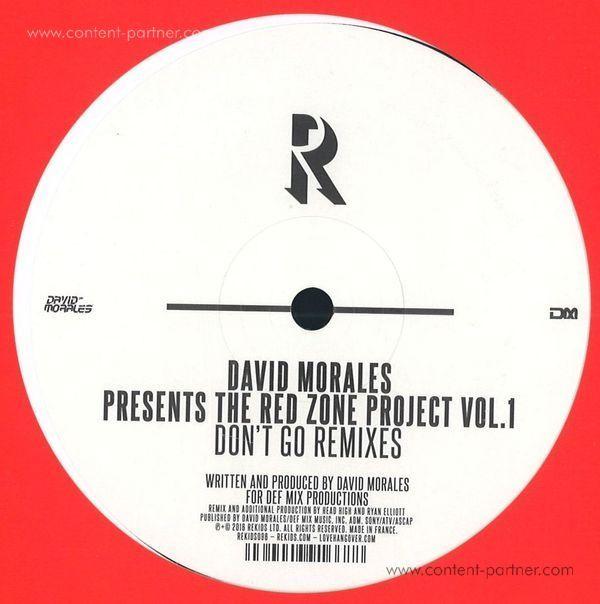 David Morales Presents The Red Zone Project Vol. 1 - Don't Go Remixes (inc. Head High, Ryan Elliot Remi