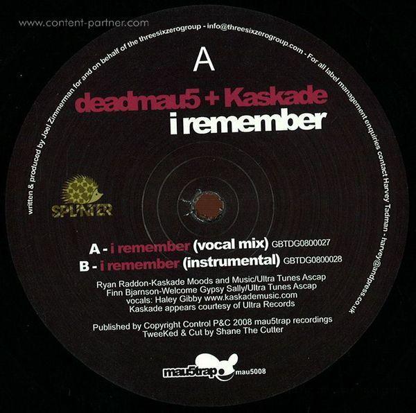 Deadmau5 & Kaskade - I Remember