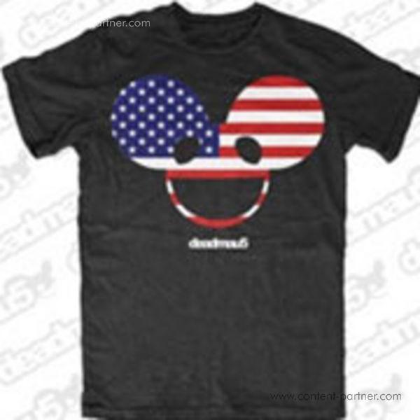 Deadmau5 T-Shirt - USA FLAG Small