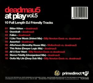 Deadmau5 - At Play Vol.5 (Back)