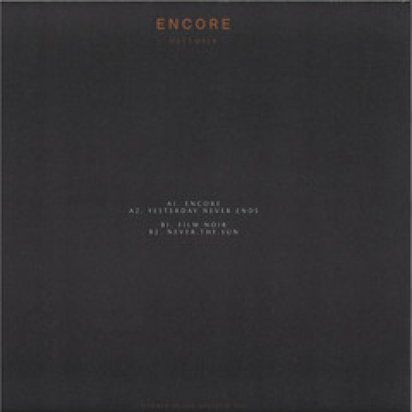 December - Encore (Back)