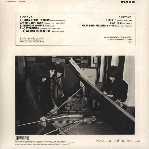 Deep Purple - Book of Taliesyn (Mono)  (RSD 2015) (Back)