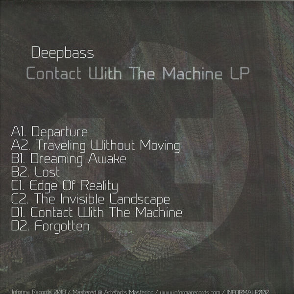 Deepbass - Contact With The Machine (Back)