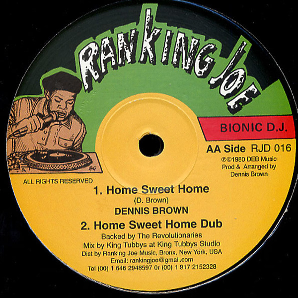 Dennis Brown - Home Sweet Home / Home Sweet Home Dub / Zion High (Back)
