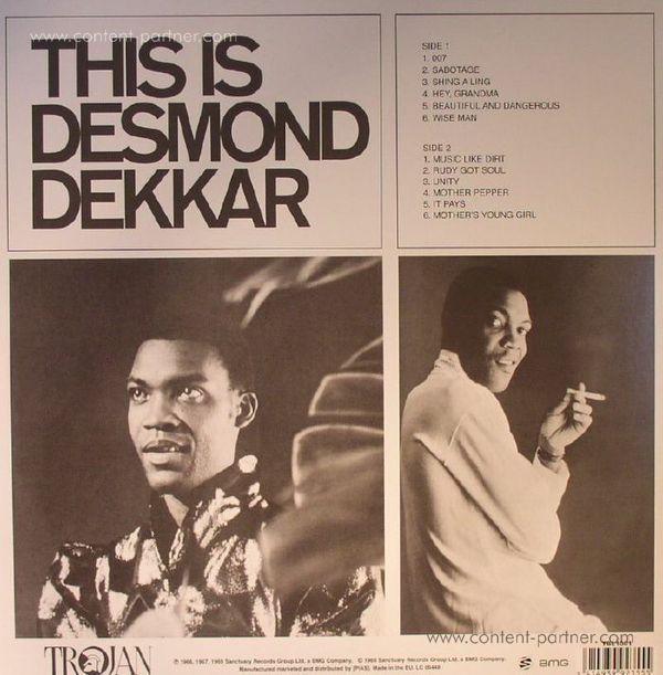 Desmond Dekker - This is Desmond Dekkar (Back)