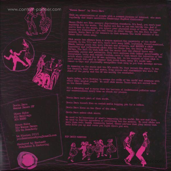 Devin Dare - Wanna Dance (Back)