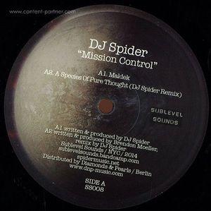 Dj Spider / Brendon Moeller - Mission Control (split Ep)