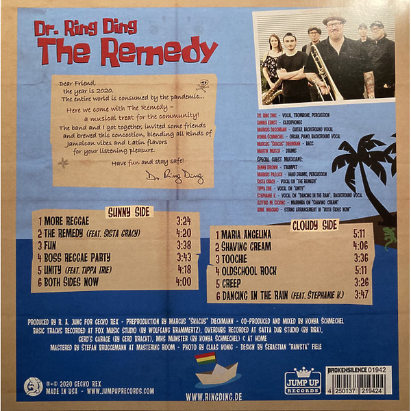 Dr. Ring Ding - The Remedy (LP) (Back)