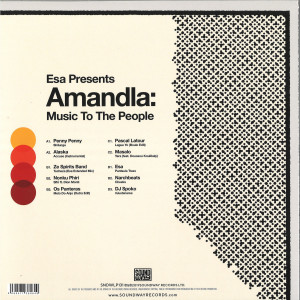 ESA Presents Various Artists - Amandla: Music to the People (2LP) (Back)