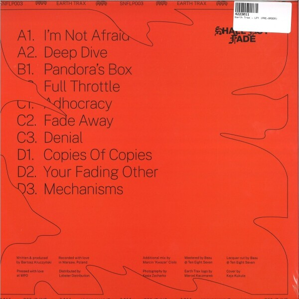"Earth Trax - LP1 (2 x 12"" Orange Vinyl) (Back)"