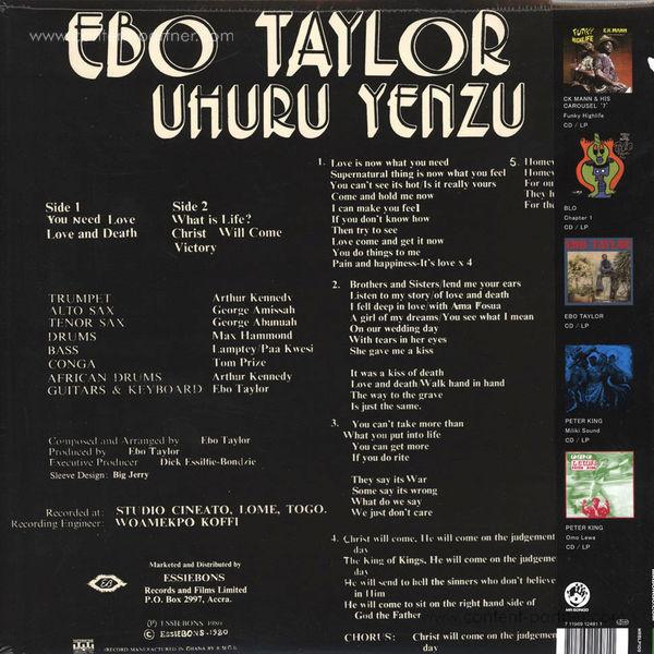 Ebo Taylor & Uhuru Yenzu - Conflict (Back)