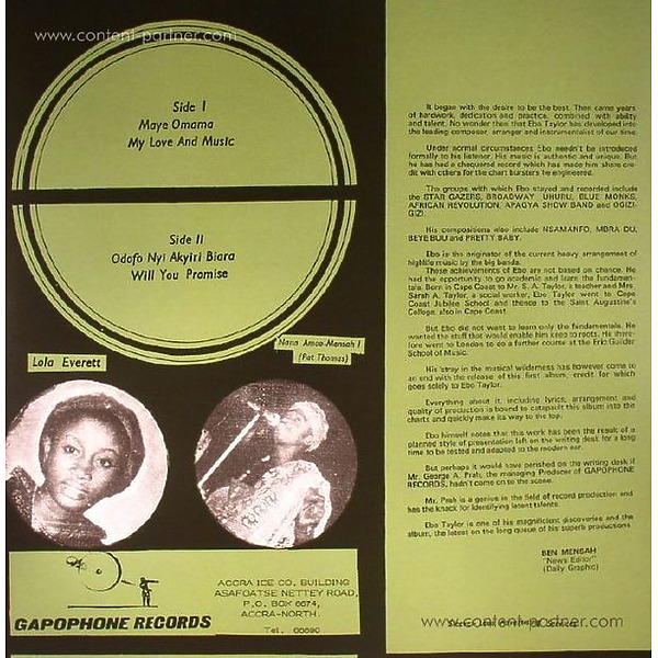 Ebo Taylor - My Love And Music (Back)
