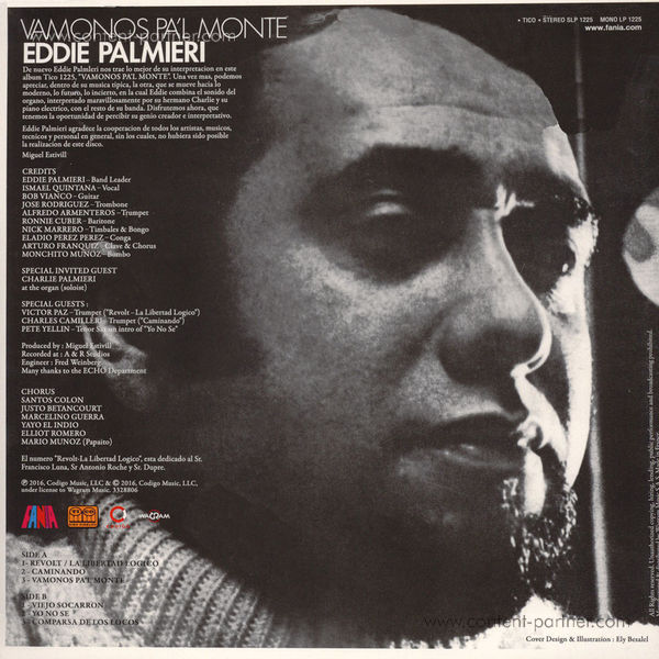 Eddie Palmieri - Vamonos pa'l monte (Remastered) (Back)
