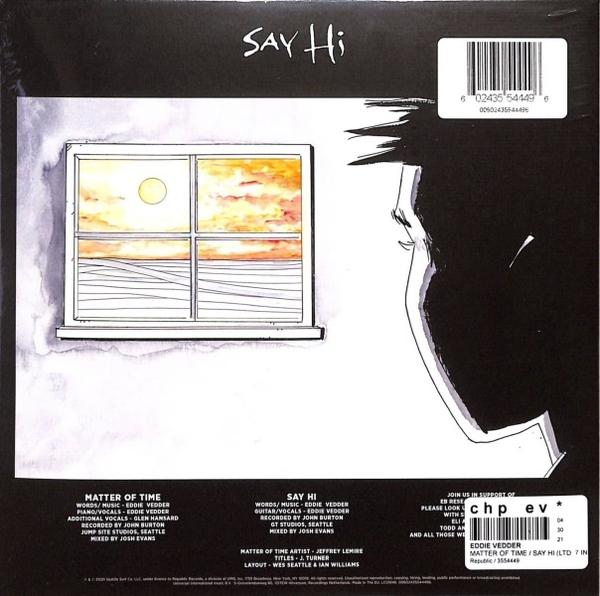 """Eddie Vedder - Matter of Time / Say Hi (Ltd. Ed. 7"""" Vinyl) (Back)"""