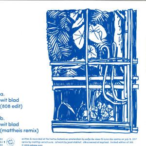 Eefje De Visser & Nuno Dos Santos - Wit Blad (incl Mattheis Remix) (Back)