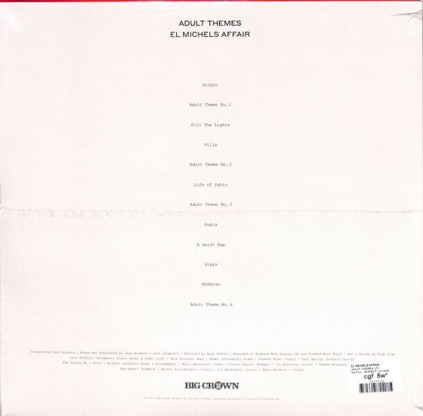 El Michels Affair - Adult Theme (Black Vinyl LP) (Back)