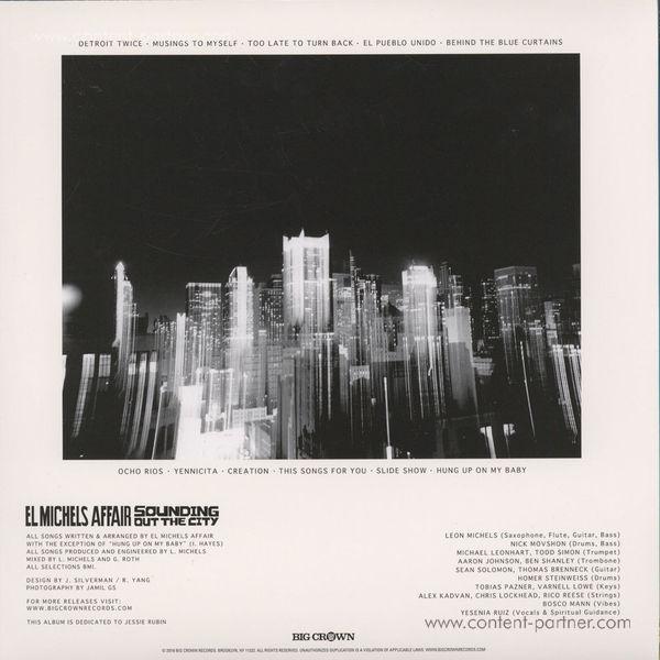 El Michels Affair - Sounding Out The City (LP) (Back)