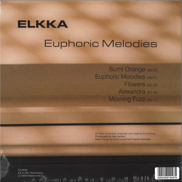 Elkka - Euphoric Melodies (12inch+MP3) (Back)