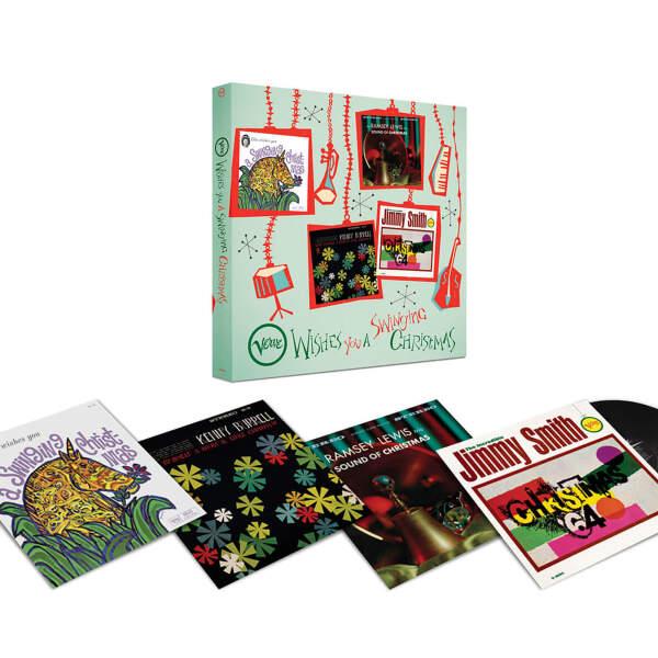 Ella Fitzgerald / J. Smith / R. Lewis/ K. Burrell - Verve Wishes You a Swinging Christmas! (4LP Box) (Back)