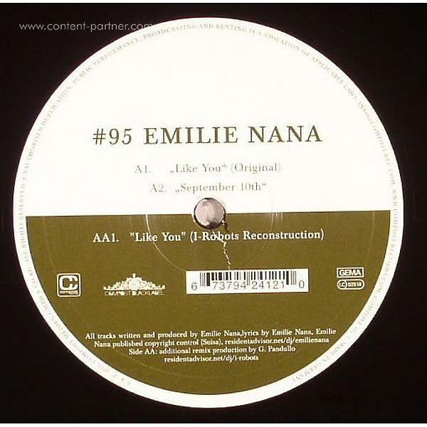 Emilie Nana - Compost Black Label 95 (Back)