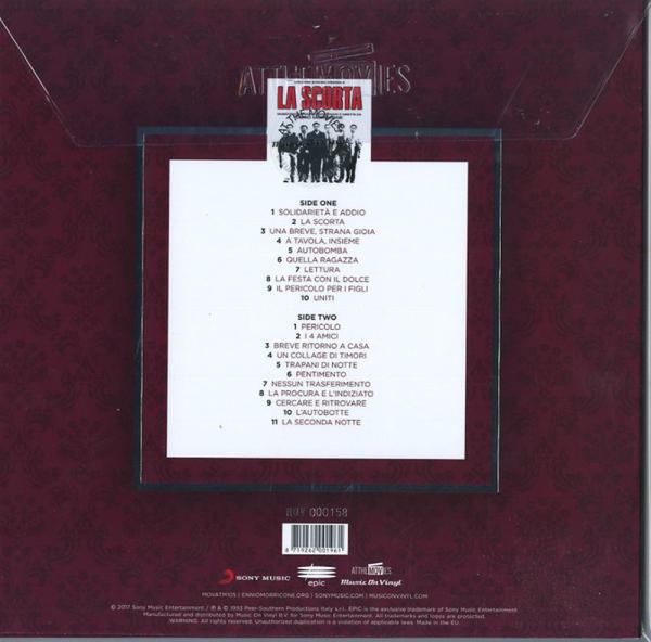 Ennio Morricone - La Scorta (OST) (Ltd. Clear Vinyl) (Back)