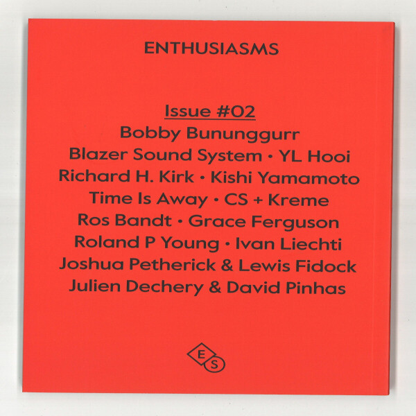 Enthusiasms - Issue #02 (Magazine) (Back)