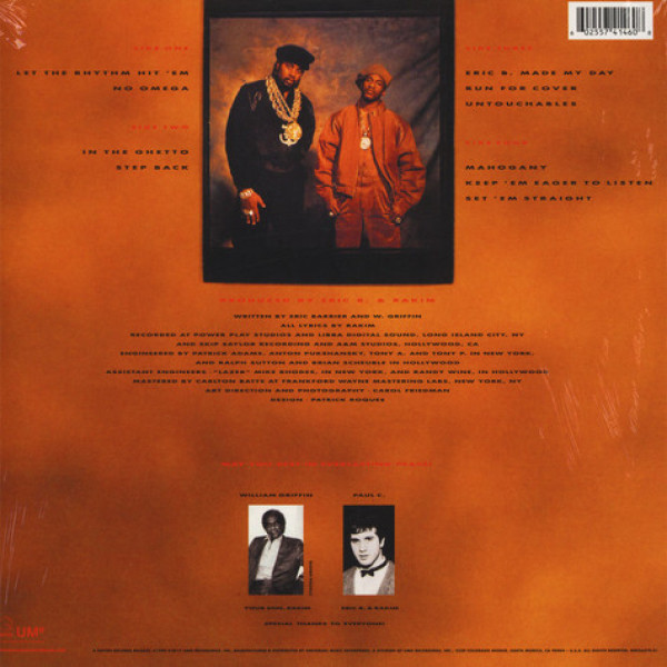Eric B. & Rakim - Let The Rhythm Hit 'Em (2LP Reissue) (Back)
