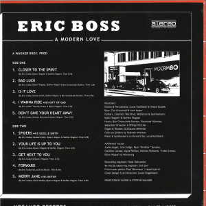 Eric Boss - A Modern Love (LP) (Back)
