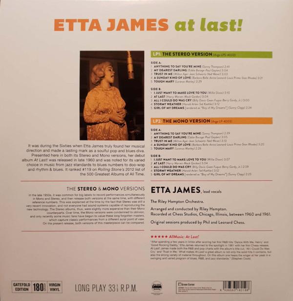 Etta James - At Last! (The Stereo & Mono Versions 2LP) (Back)