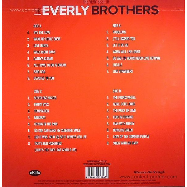 Everly Brothers - Very Best Of (Back)