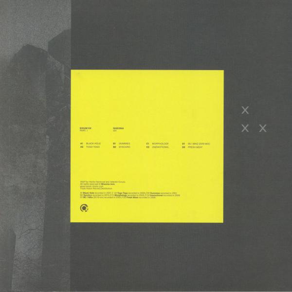 Exium - XX Part 1 [full colour sleeve] (Back)