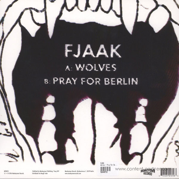 FJAAK - Wolves / Pray For Berlin (Back)