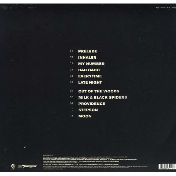 FOALS - Holy Fire (Back)